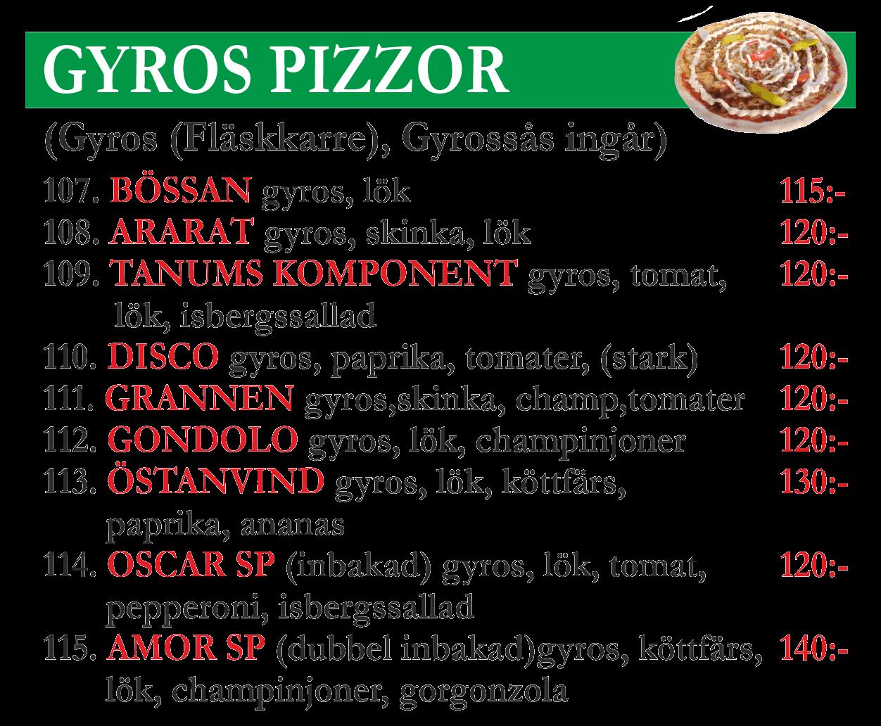 gyros-pizzor